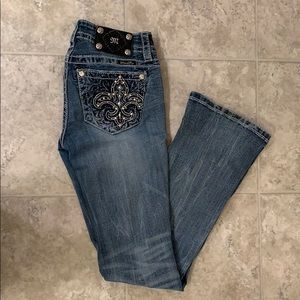 MISS ME JEANS- BOOTCUT SIZE 27